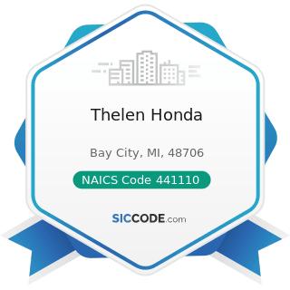 Thelen Honda - NAICS Code 441110 - New Car Dealers