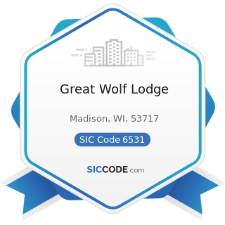 Great Wolf Lodge - SIC Code 6531 - Real Estate Agents and Managers