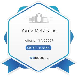 Yarde Metals Inc - SIC Code 3334 - Primary Production of Aluminum