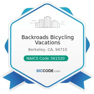 Backroads Bicycling Vacations - NAICS Code 561520 - Tour Operators