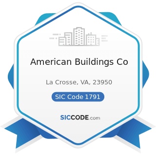 American Buildings Co - SIC Code 1791 - Structural Steel Erection