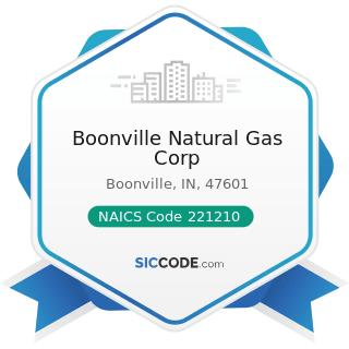 Boonville Natural Gas Corp - NAICS Code 221210 - Natural Gas Distribution