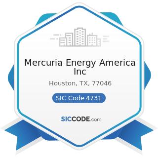 Mercuria Energy America Inc - SIC Code 4731 - Arrangement of Transportation of Freight and Cargo