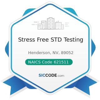 Stress Free STD Testing - NAICS Code 621511 - Medical Laboratories