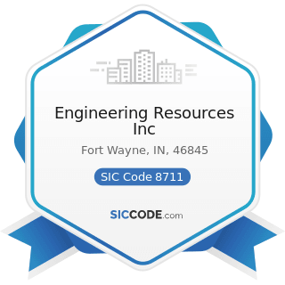 Engineering Resources Inc - SIC Code 8711 - Engineering Services