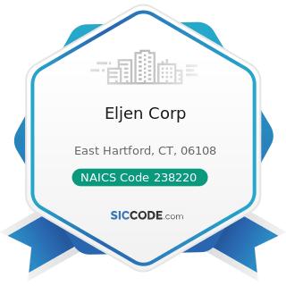 Eljen Corp - NAICS Code 238220 - Plumbing, Heating, and Air-Conditioning Contractors