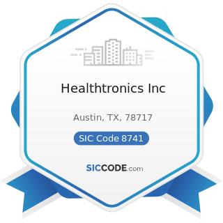 Healthtronics Inc - SIC Code 8741 - Management Services