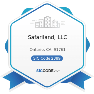 Safariland, LLC - SIC Code 2389 - Apparel and Accessories, Not Elsewhere Classified
