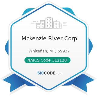Mckenzie River Corp - NAICS Code 312120 - Breweries