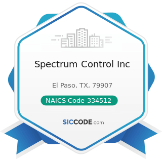 Spectrum Control Inc - NAICS Code 334512 - Automatic Environmental Control Manufacturing for...