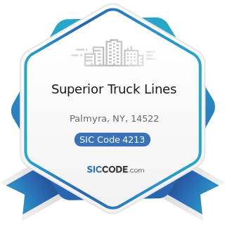 Superior Truck Lines - SIC Code 4213 - Trucking, except Local