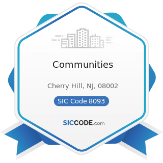 Communities - SIC Code 8093 - Specialty Outpatient Facilities, Not Elsewhere Classified