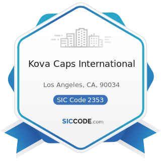 Kova Caps International - SIC Code 2353 - Hats, Caps, and Millinery