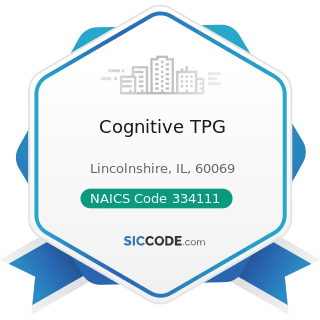 Cognitive TPG - NAICS Code 334111 - Electronic Computer Manufacturing
