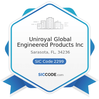 Uniroyal Global Engineered Products Inc - SIC Code 2299 - Textile Goods, Not Elsewhere Classified