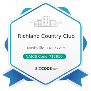Richland Country Club - NAICS Code 713910 - Golf Courses and Country Clubs