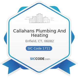 Callahans Plumbing And Heating - SIC Code 1711 - Plumbing, Heating and Air-Conditioning