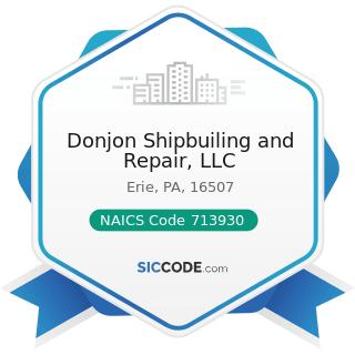 Donjon Shipbuiling and Repair, LLC - NAICS Code 713930 - Marinas