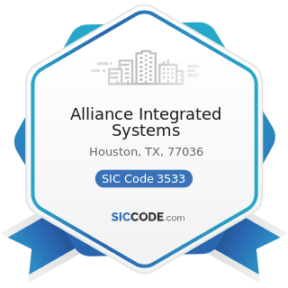 Alliance Integrated Systems - SIC Code 3533 - Oil and Gas Field Machinery and Equipment