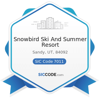 Snowbird Ski And Summer Resort - SIC Code 7011 - Hotels and Motels