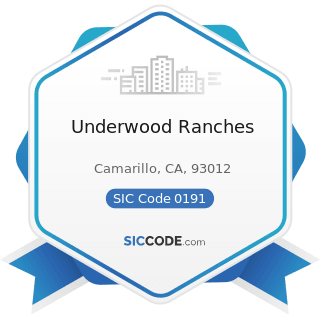 Underwood Ranches - SIC Code 0191 - General Farms, Primarily Crop