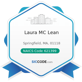 Laura MC Lean - NAICS Code 621399 - Offices of All Other Miscellaneous Health Practitioners