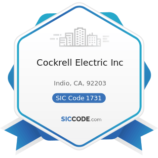 Cockrell Electric Inc - SIC Code 1731 - Electrical Work