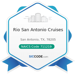 Rio San Antonio Cruises - NAICS Code 711219 - Other Spectator Sports