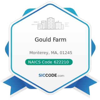 Gould Farm - NAICS Code 622210 - Psychiatric and Substance Abuse Hospitals