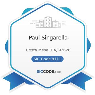 Paul Singarella - SIC Code 8111 - Legal Services