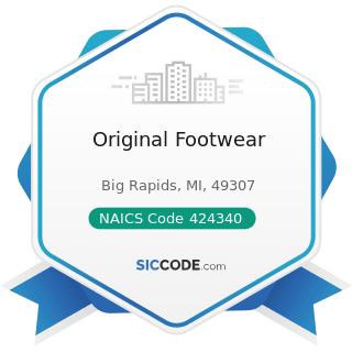 Original Footwear - NAICS Code 424340 - Footwear Merchant Wholesalers