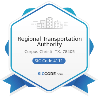 Regional Transportation Authority - SIC Code 4111 - Local and Suburban Transit