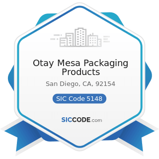 Otay Mesa Packaging Products - SIC Code 5148 - Fresh Fruits and Vegetables