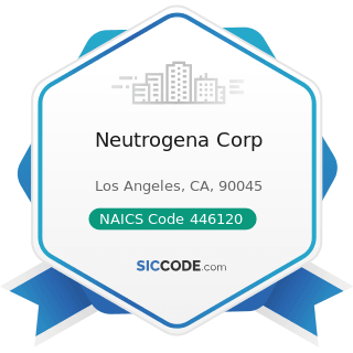 Neutrogena Corp - NAICS Code 446120 - Cosmetics, Beauty Supplies, and Perfume Stores