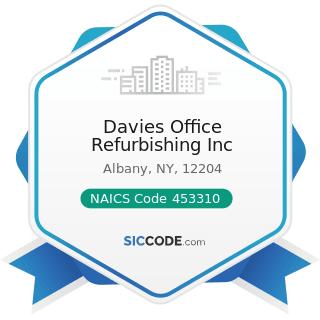 Davies Office Refurbishing Inc - NAICS Code 453310 - Used Merchandise Stores