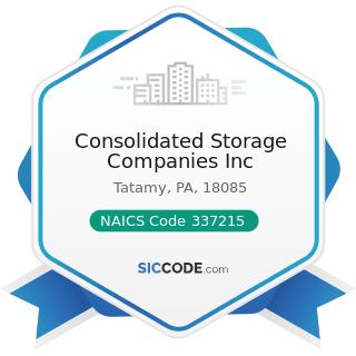 Consolidated Storage Companies Inc - NAICS Code 337215 - Showcase, Partition, Shelving, and...