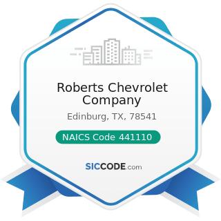 Roberts Chevrolet Company - NAICS Code 441110 - New Car Dealers