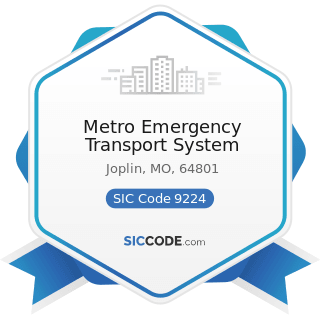 Metro Emergency Transport System - SIC Code 9224 - Fire Protection