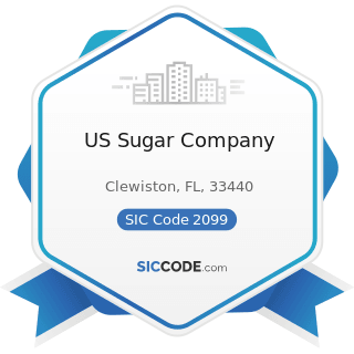 US Sugar Company - SIC Code 2099 - Food Preparations, Not Elsewhere Classified
