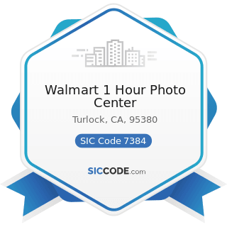 Walmart 1 Hour Photo Center - SIC Code 7384 - Photofinishing Laboratories