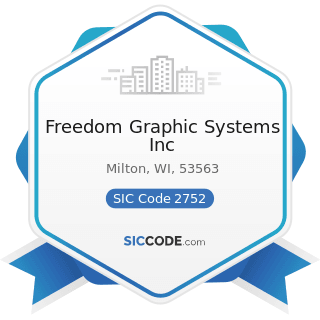 Freedom Graphic Systems Inc - SIC Code 2752 - Commercial Printing, Lithographic