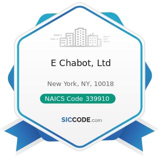 E Chabot, Ltd - NAICS Code 339910 - Jewelry and Silverware Manufacturing