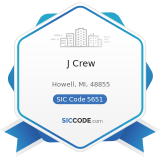 J Crew - SIC Code 5651 - Family Clothing Stores