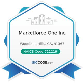 Marketforce One Inc - NAICS Code 711219 - Other Spectator Sports