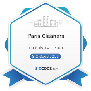 Paris Cleaners - SIC Code 7213 - Linen Supply