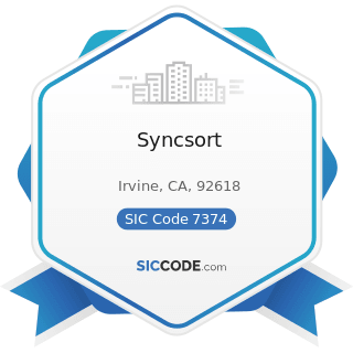 Syncsort - SIC Code 7374 - Computer Processing and Data Preparation and Processing Services