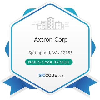 Axtron Corp - NAICS Code 423410 - Photographic Equipment and Supplies Merchant Wholesalers
