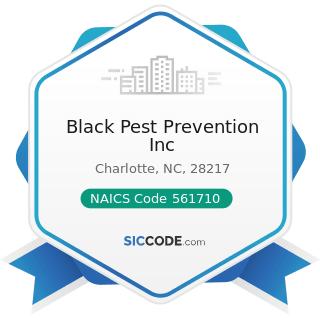 Black Pest Prevention Inc - NAICS Code 561710 - Exterminating and Pest Control Services