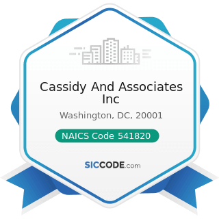 Cassidy And Associates Inc - NAICS Code 541820 - Public Relations Agencies