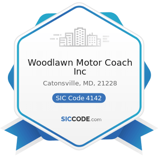 Woodlawn Motor Coach Inc - SIC Code 4142 - Bus Charter Service, except Local